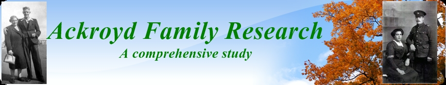 Ackroyd Family Research